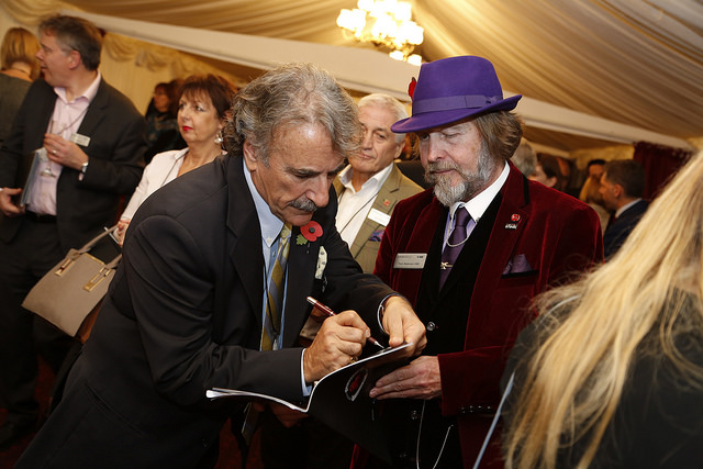 Dr Ernesto Sirolli with small business champ Tony robinson OBE
