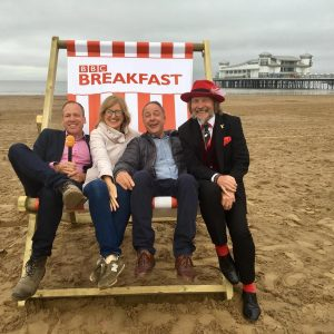 BBC Breakfast with Tony Robinson, professiona business speaker