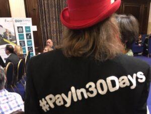#PayIn30Days campaigner Tony Robinson OBE